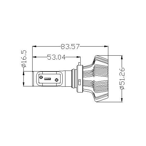 Набір світлодіодного головного світла UP-7HL-9012W-4000Lm (HIR2, 4000 лм, холодний білий) Прев'ю 1