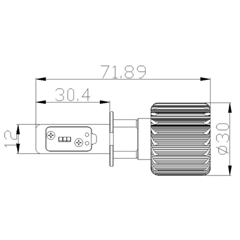 Набір світлодіодного головного світла UP-7HL-H3W-4000Lm (H3, 4000 лм, холодний білий) Прев'ю 4