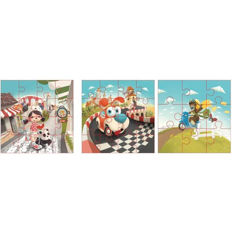Puzzlika 3 in 1 Jigsaw Puzzle Happy Stories - Preview 2